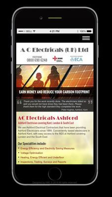 AC Electrical on Mobile Design