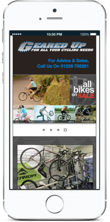 Geared Up Cycles on Mobile Design